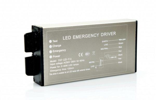 Vészvilágító áramforrás 3-40W 2400mA, 2 óra
