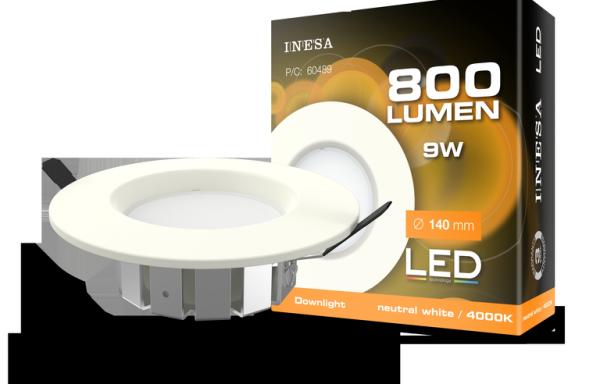 MQ603 9W 90° LED mennyezetvilágítás, mélysugárzó 4000K