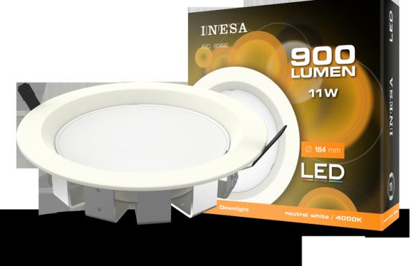 MQ603 11W 95° LED mennyezetvilágítás, mélysugárzó, köralakú panel4000K