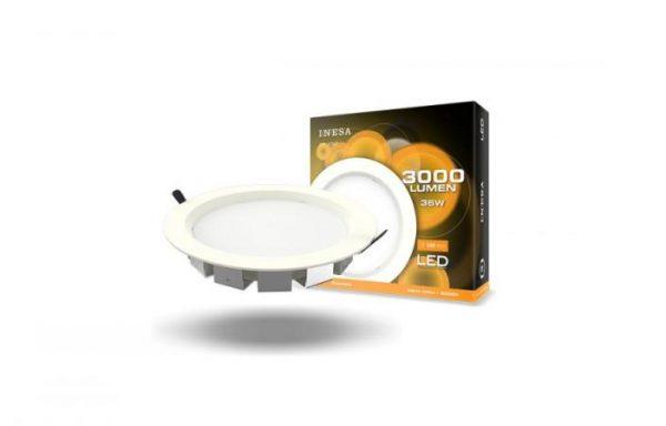 MQ603 36W 100′ LED mennyezetvilágítás, mélysugárzó, köralakú panel 4000K